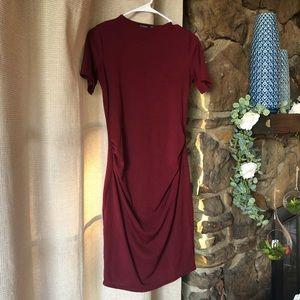 Boohoo maternity dress - beautiful burgundy color